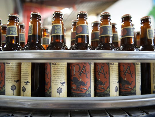 Odell IPA is bottled at Odell Brewing Co. on Wednesday,