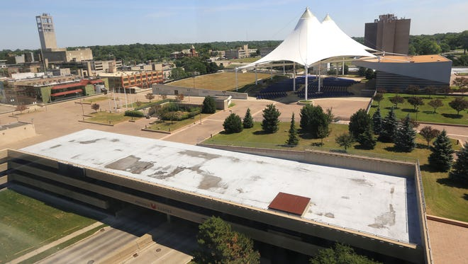 Phoenix Center entertainment grounds on 6.5 acres in Pontiac is seen from 51111 Woodward on Monday, July 27, 2015.