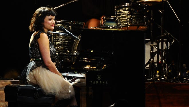 Norah Jones performs on stage at the 2015 MusiCares Person of the Year show at the Los Angeles Convention Center Feb. 6, 2015, in Los Angeles.