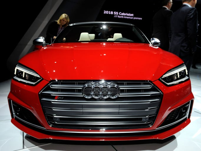 This is the front of the 2018 Audi S5 Cabriolet on