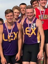 The Lexington 4x800 relay of Mason Kearns, Kyle Johnston,
