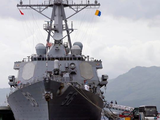 The U.S. Navy warship USS John McCain.