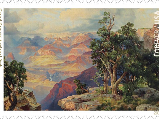 Grand Canyon National Park in Arizona is one of 16 Forever Stamps being released by the United States Postal Service to celebrate the National Park Service centennial.