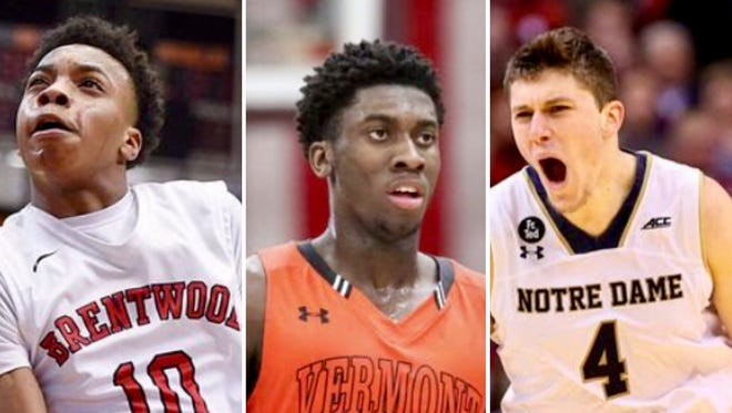 Brentwood Academy's Darius Garland (left to right), fellow signee Simi Shittu and Notre Dame transfer Matt Ryan will join Vanderbilt's lineup next season.