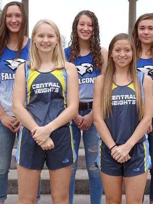 The Ottawa Herald 2020 All-Area girls cross country team members are, front row from left, Lily Meyer, Central Heights; Taryn Compton, Central Heights; back row, Lily Judd, West Franklin; Emma Bailey, West Franklin; and Hope Crabtree, West Franklin. Not pictured is Lexi McDaniel, Wellsville.