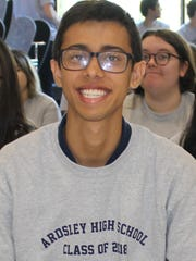 Jainil Sutaria, senior at Ardsley High School, earned a spot as a regional finalist in the Siemens competition.
