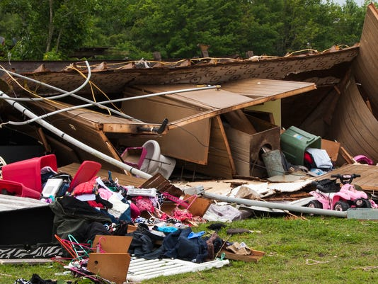 Storm Flips Mobile Home Sunday Morning, April 2, 2017 in Breaux Bridge Leaving A Mother And Aoung Daughter Dead.