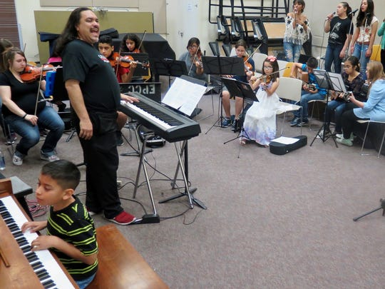El Paso Youth Symphony Orchestra conductor Phillip Gabriel Garcia leads rehearsals for the group's Dare to Dream tour in June 2017 at El Paso Community College's Valle Verde Campus.