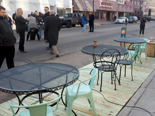 Annie's Fountain City Cafe in Fond du Lac boasts one of the city's first parklets. It was revealed in May along with other renovations to the business.
