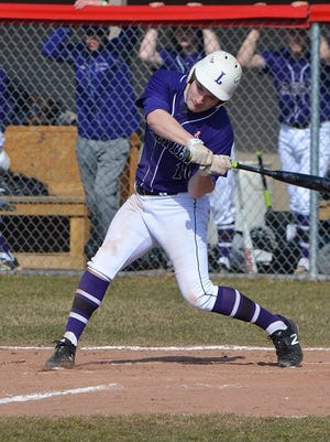 Lakeview's Tyler Brown takes a swing during early season action against Marshall.