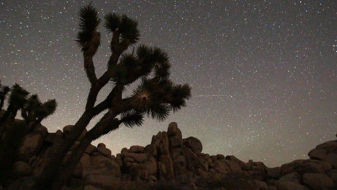 The night sky in the Mojave Desert.