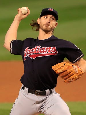 Josh Tomlin started Game 3 for the Indians.