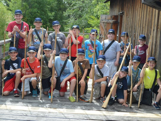 At Wade House's Civil War Day Camp, participants have