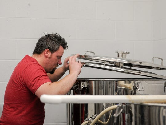 Henderson Brewing Company's head brewer Doug Laramie