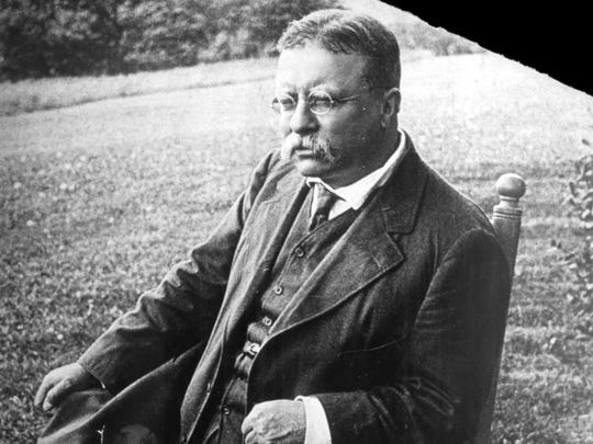 Teddy Roosevelt, as he looked when he drank the Manhattan