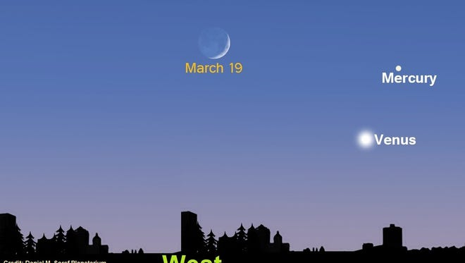 Venus can be seen shining bright in the western sky tonight and Tuesday night in Milwaukee. The best time to see it will be 7:30 to 8 p.m.