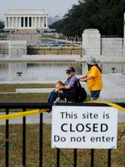 A file image from the government shutdown in 2013.