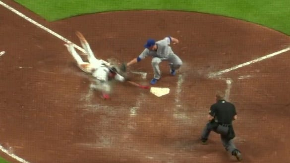 Braves fans flooded MLB's Twitter after controversial replay ruling erased a run