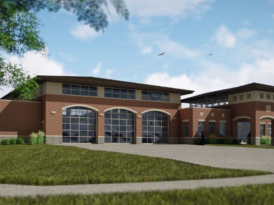 A rendering of Ankeny's third fire station.
