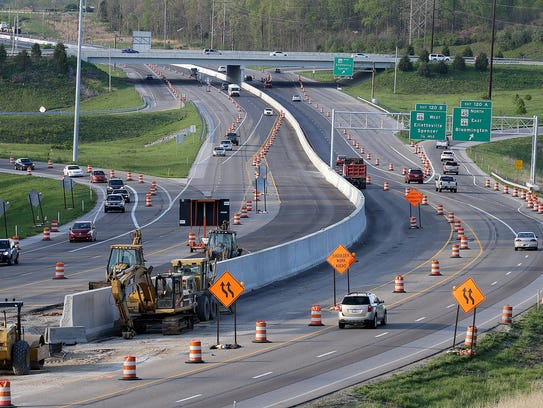 Construction continues on Interstate 69/Indiana 37.