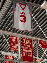 Rod Scott's jersey was retired at Lee in May 2016, two months after his death.