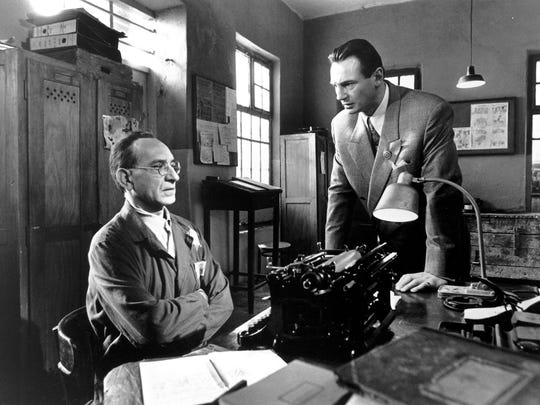 A scene from 'Schindler's List,' which was based on the novel 'Schindler's Ark' by Thomas Keneally.