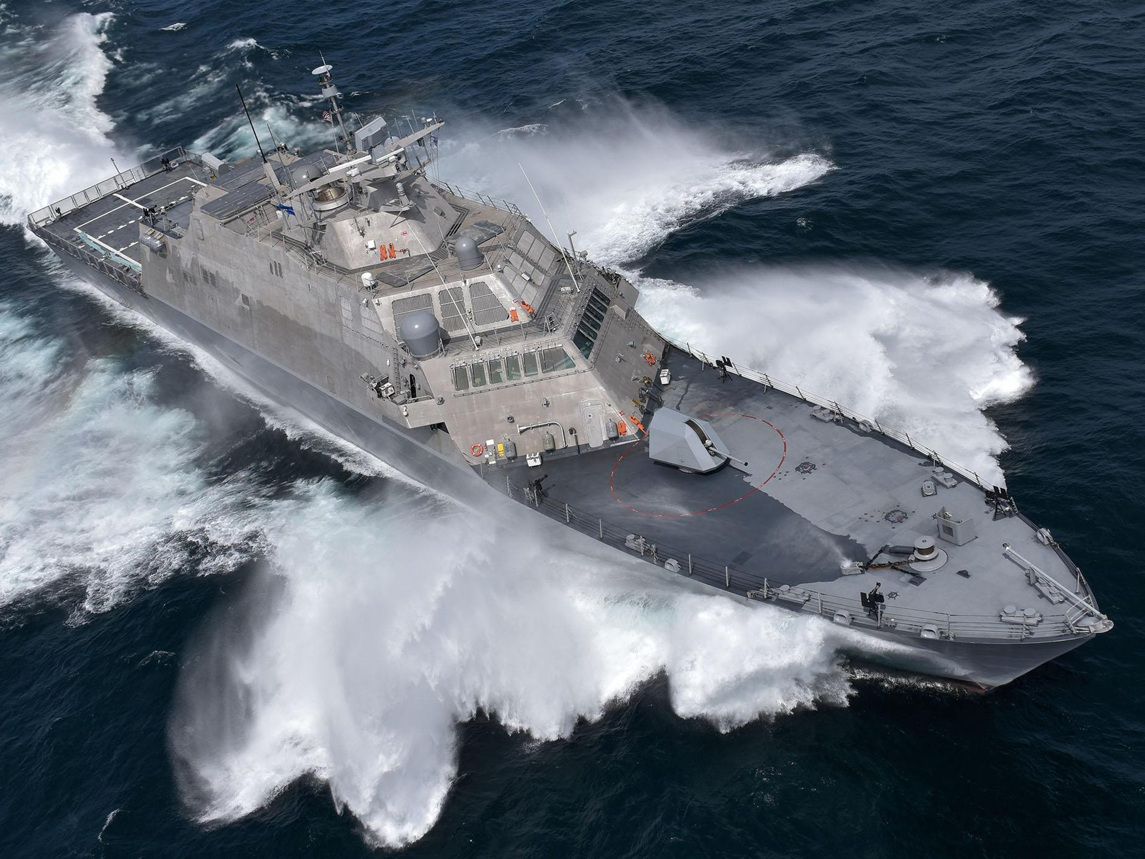 The newest USS is fast, agile and maneuverable in shallow
