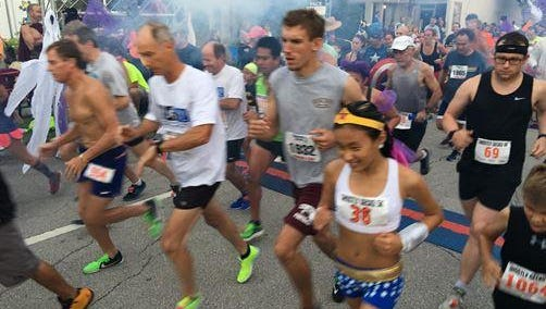 For this year only, the Downtown Melbourne 5K will be run in Downtown Eau Gallie on the same course as the Ghostly Gecko.
