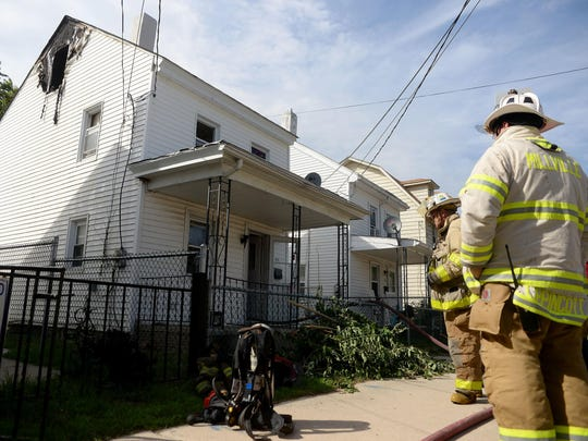 Millville firefighters extinguished a fire in a home's