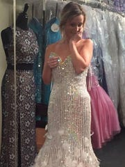 Megan will wear her Gatsby-inspired dress for eternity. She was going to wear it for her vow renewal last month.