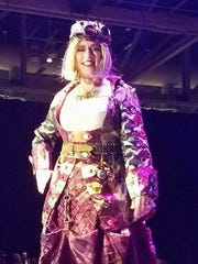 Krewe Les Femmes Captain Helen Phares is presented at the group's Grand Bal XIX.