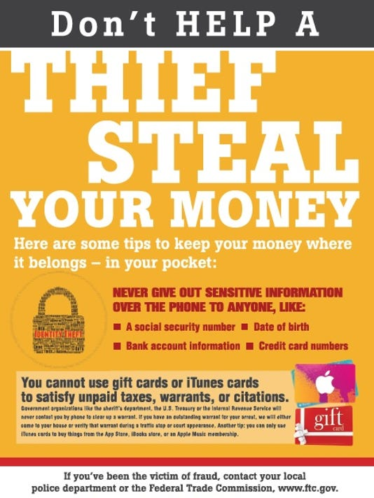 Scam poster