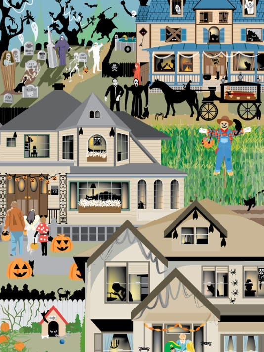 My first Halloween hidden picture finder. The theme was black cats.