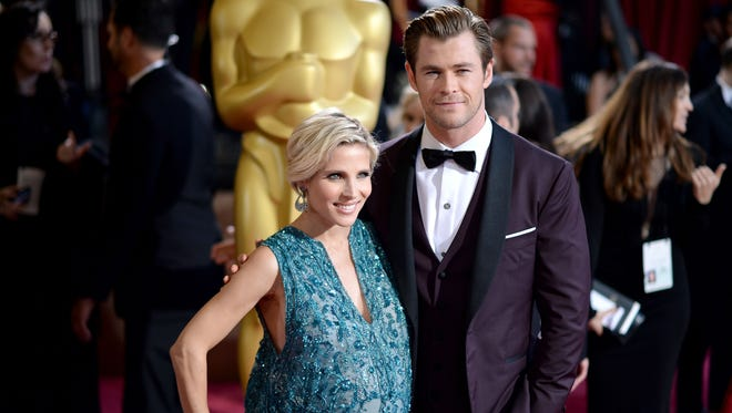 'Avengers' star Chris Hemsworth and Elsa Pataky at the Oscars on March 2.