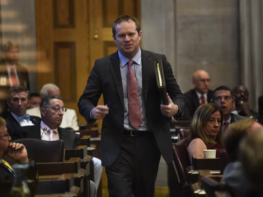 Jeremy Durham was expelled from the legislature after a 2016 Tennessean investigation revealed he sent late-night, lewd text messages to several women.