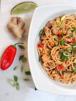 A few easy swaps helps reduce your sodium consumption. Try Szechuan Noodles with Chicken for a low-sodium, easy meal.
