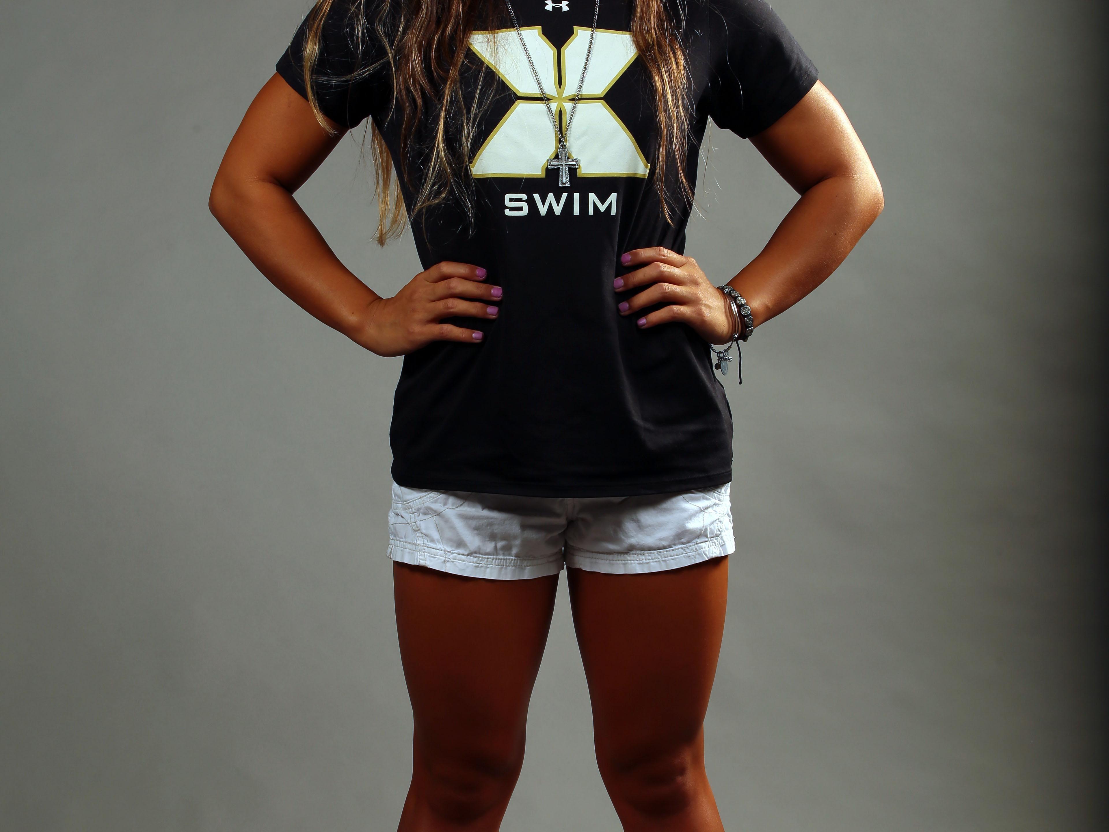 Xavier College Prep swim star Shelby Andrade at the Desert Sun studio on Tuesday.