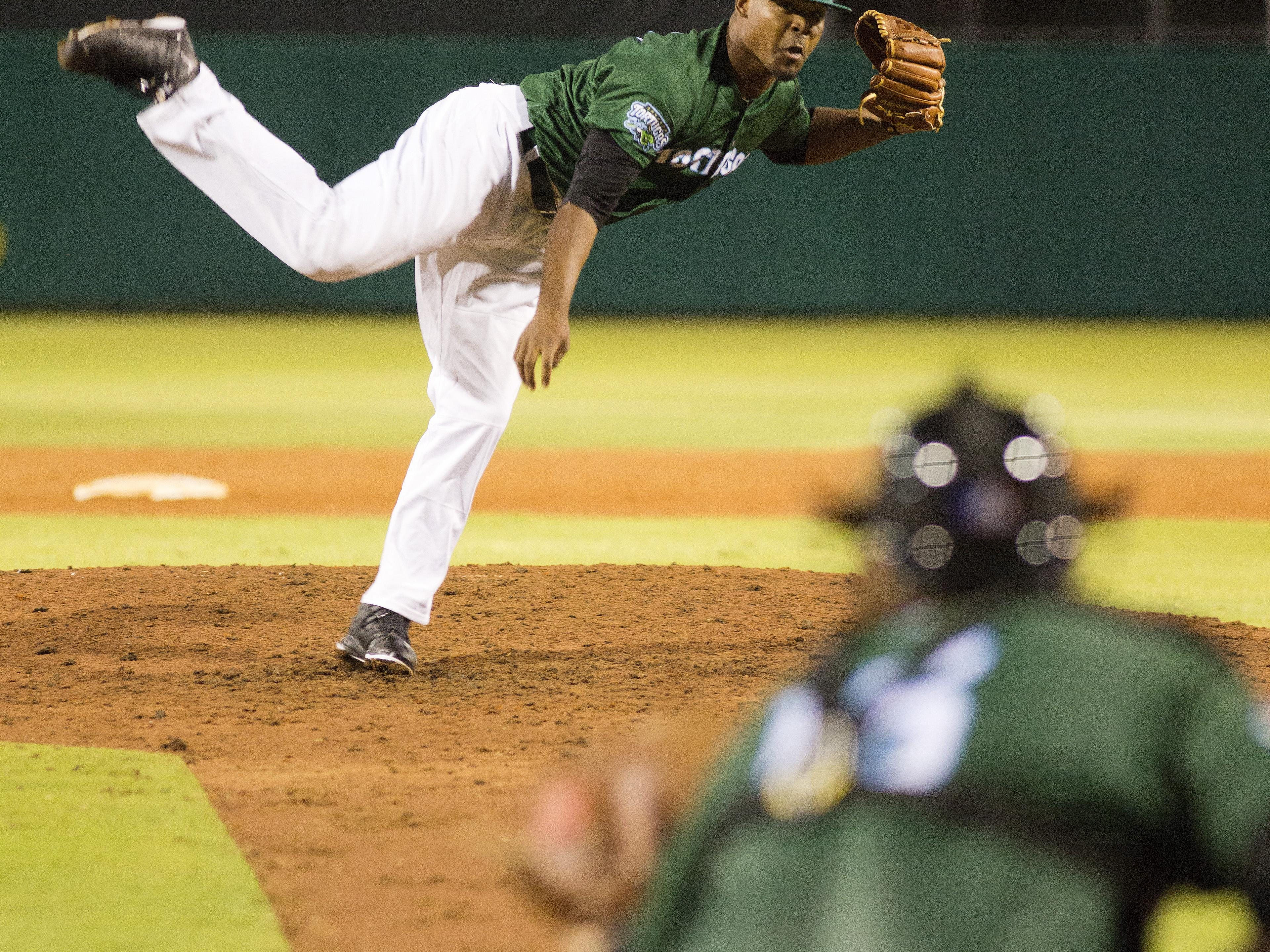 El'Hajj Muhammad, a County College of Morris graduate from Somerset, is a closer for the Daytona Tortugas.