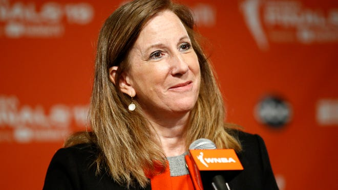 WNBA Commissioner Cathy Engelbert said the league was considering playing at one or two sites this season.