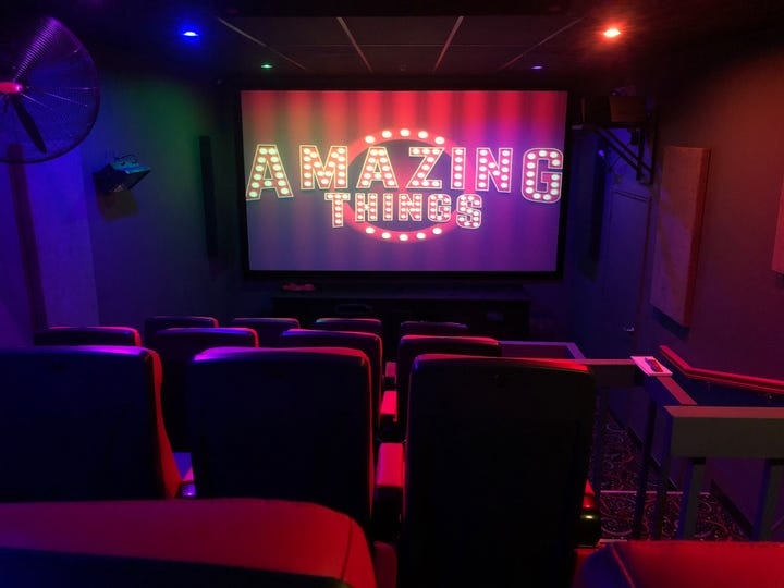 Amazing Things at Miromar Outlets features a 5D movie theater with moving seats and in-room special effects such as simulated rain, snow and lightning