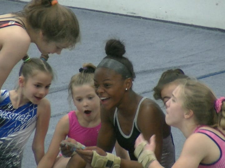 U.S. national team gymnast Trinity Thomas opted to try diving and track and field at West York during her last school year before going to Florida.