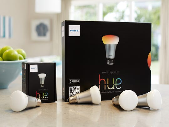 LED Hue light bulb by Philips are one of many 'smart'