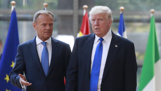 President Trump and European Council President Donald Tusk