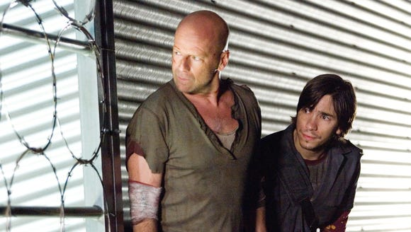 "Bruce Willis and Justin Long look for trouble in ""Live"