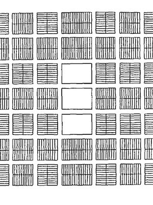 Joseph Smith's original 1833 City of Zion Plan was an innovative cardinally-oriented, rigid-grid system with regimented blocks laid out so no homes faced one another across streets