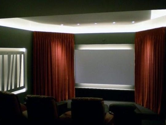 A bonus room is the perfect space to create a movie theater.
