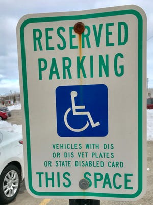 Reserved parking for people with disabled parking permits