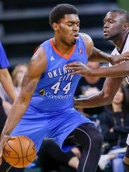 Dakari Johnson plays for Oklahoma City Blue of the