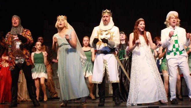"""The """"Find Your Grail Finale"""" in Alamogordo Music Theatre's production of """"Monty Python's Spamalot."""" Final performances are Friday and Saturday at 7 p.m. at the Flickinger Center for Performing Arts, 1110 N. New York Ave."""