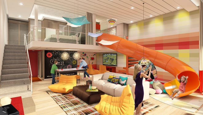 The Ultimate Family Suite planned for Royal Caribbean's Symphony of the Seas.